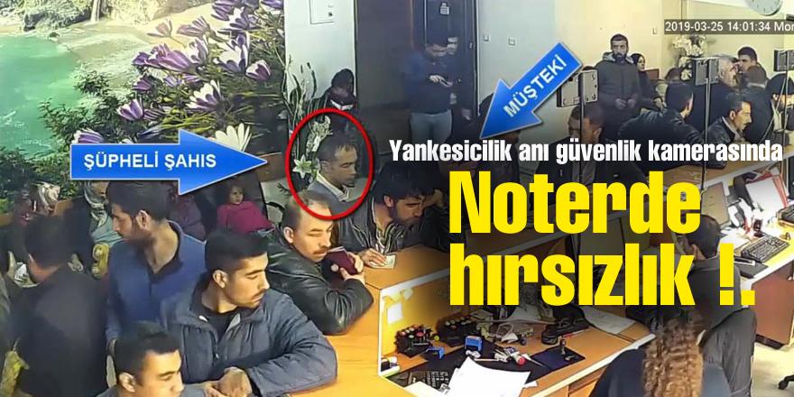 Noterde hırsızlık !.