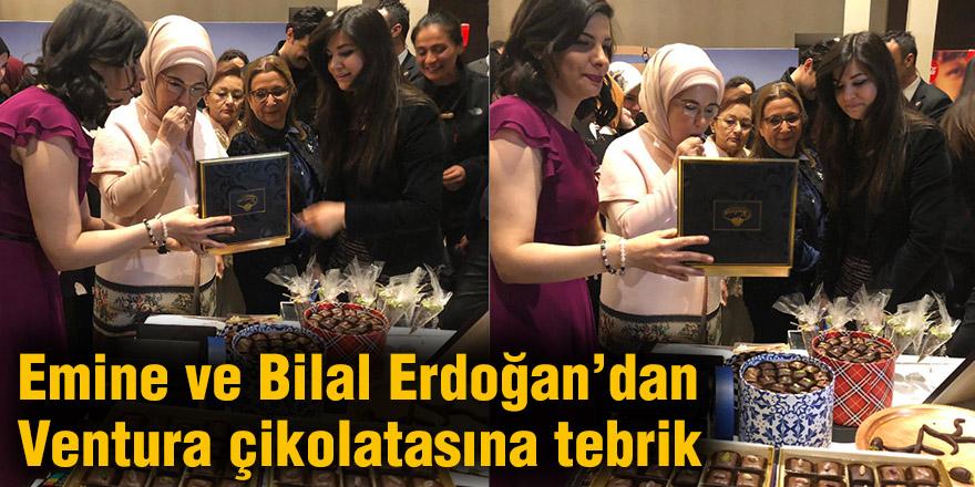 Emine ve Bilal Erdoğan'dan Ventura çikolatasına tebrik