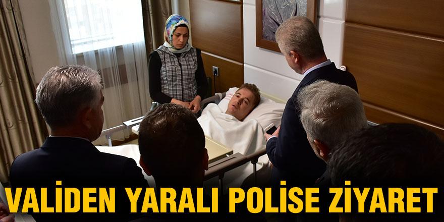 VALİDEN YARALI POLİSE ZİYARET