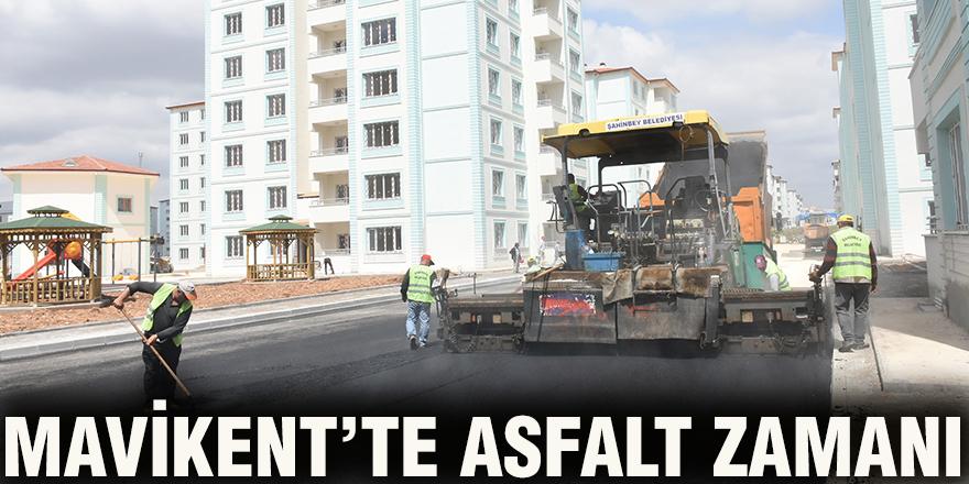 Mavikent'te asfalt zamanı