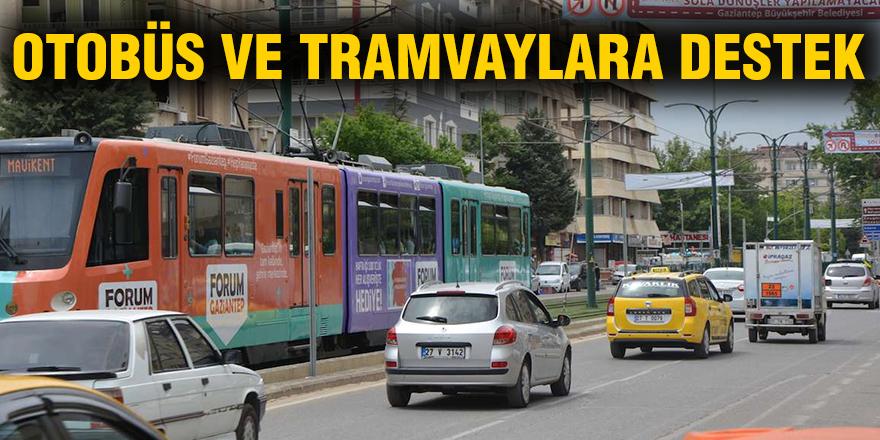 Otobüs ve tramvaylara destek