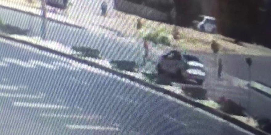 Kaza güvenlik kamerasında