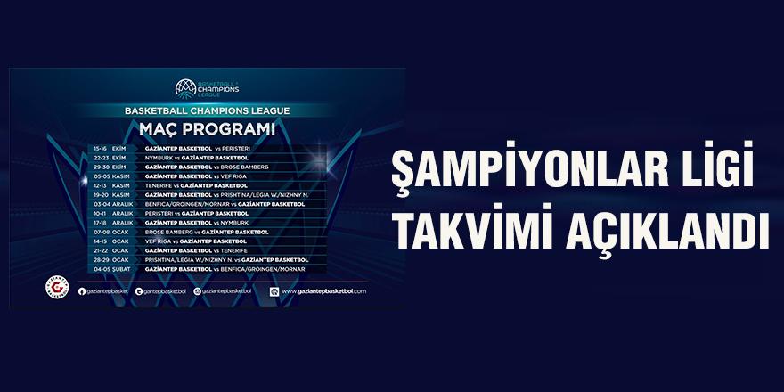 Şampiyonlar ligi takvimi açıklandı