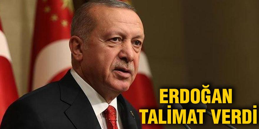 Erdoğan talimat verdi