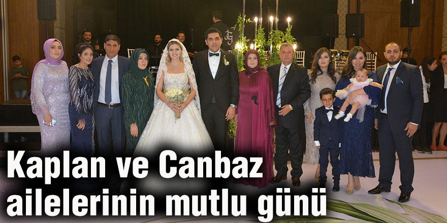 Kaplan ve Canbaz ailelerinin mutlu günü