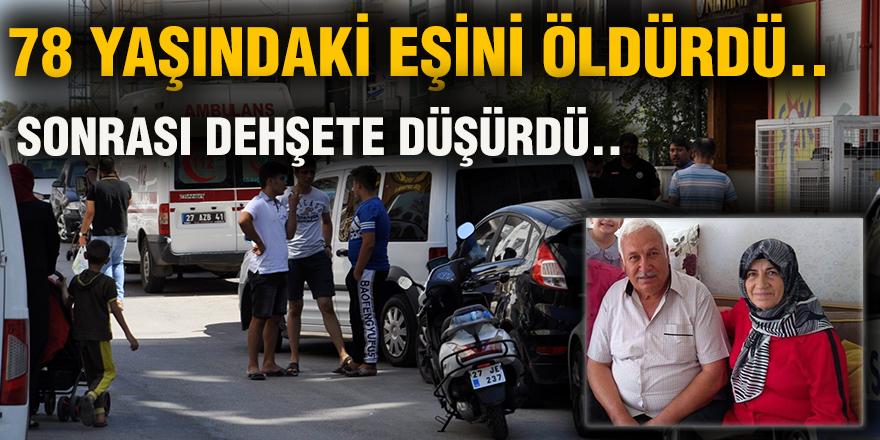 78 YAŞINDAKİ EŞİNİ ÖLDÜRDÜ..