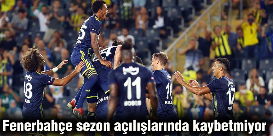Fenerbahçe sezon açılışlarında kaybetmiyor