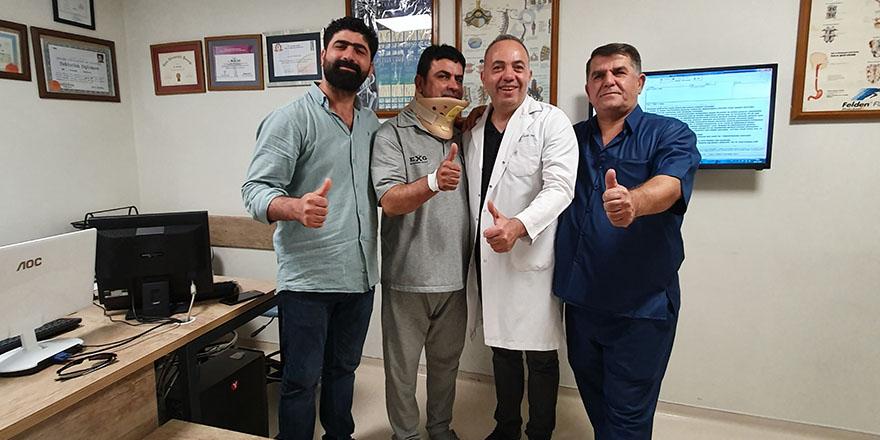 Iraklı hasta sağlığına kavuştu
