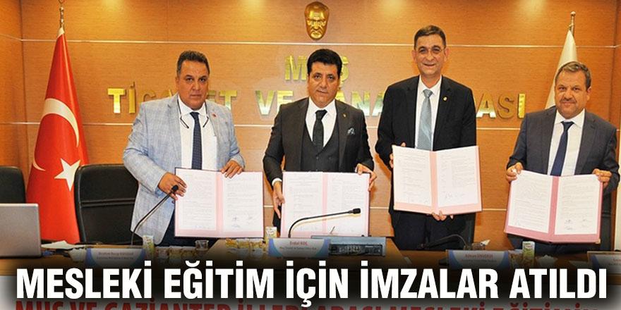 Mesleki eğitim için imzalar atıldı
