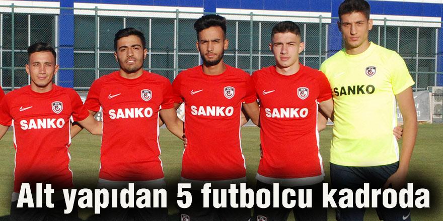 Alt yapıdan 5 futbolcu kadroda