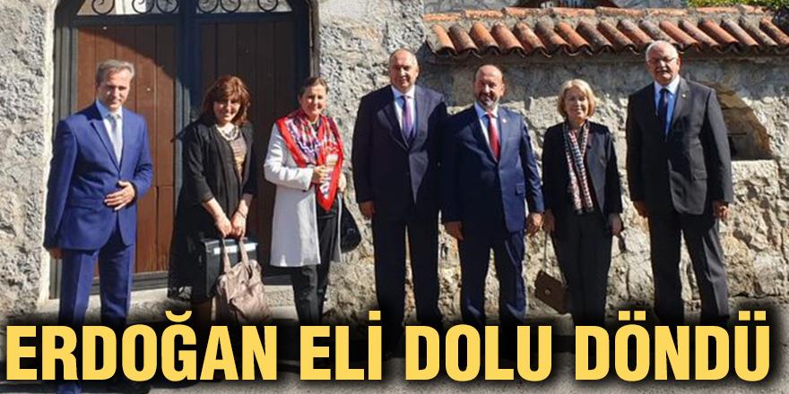 Erdoğan eli dolu döndü
