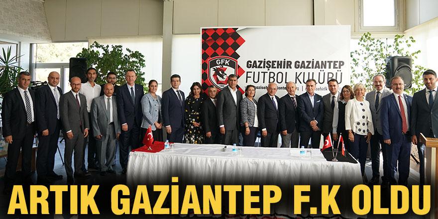Artık Gaziantep F.K oldu