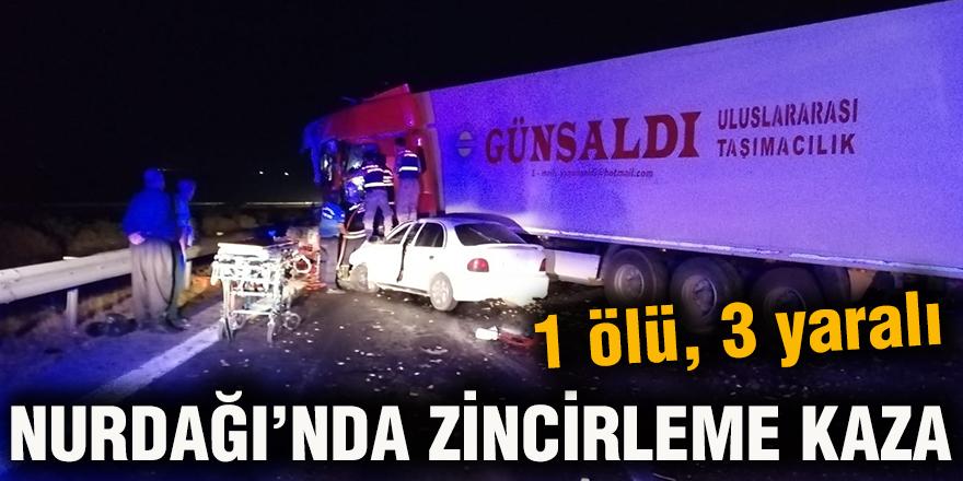 Nurdağı'nda zincirleme kaza