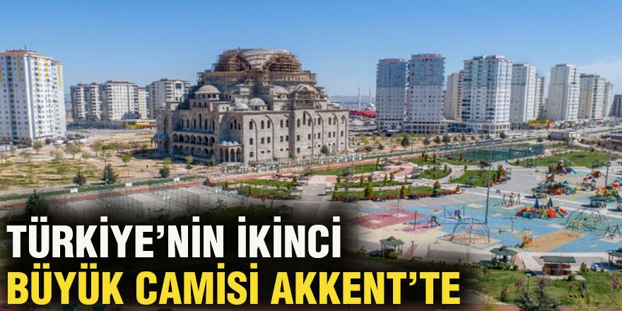 Türkiye'nin ikinci büyük camisi Akkent'te