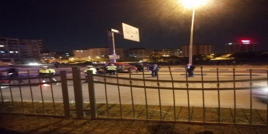 Gaziantepte gece yarısı korkunç kaza
