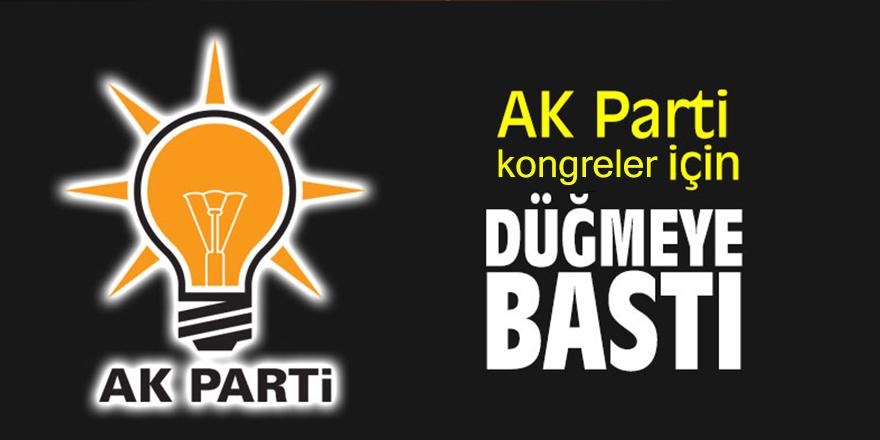 AK Parti kongreler için düğmeye bastı
