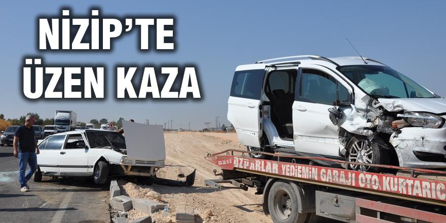Nizip'te trafik kazası: 3 yaralı