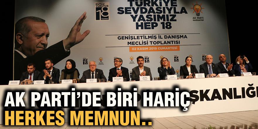 AK Parti'de biri hariç herkes memnun..