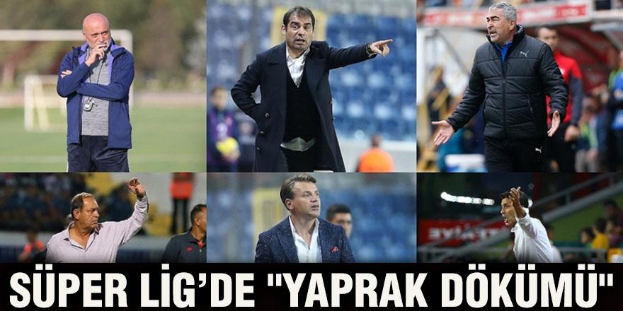 """Süper Lig'de """"yaprak dökümü"""""""