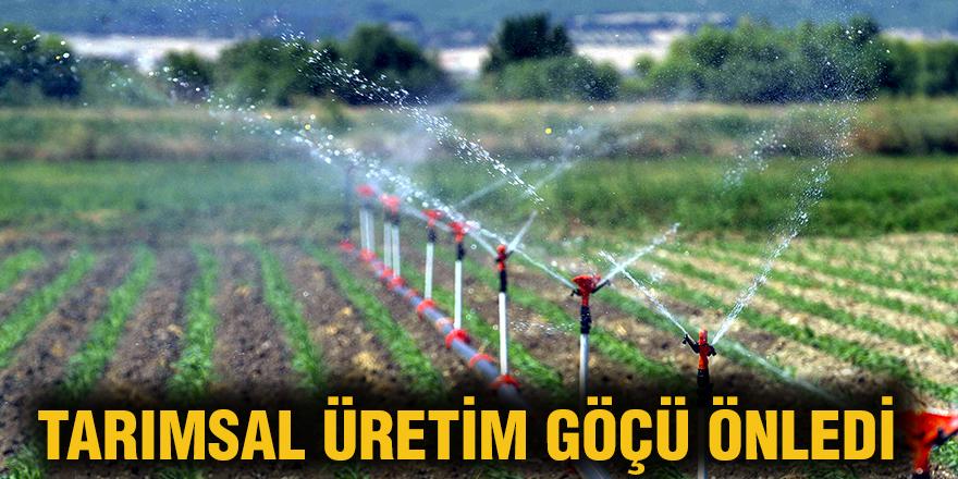 Tarımsal üretim göçü önledi