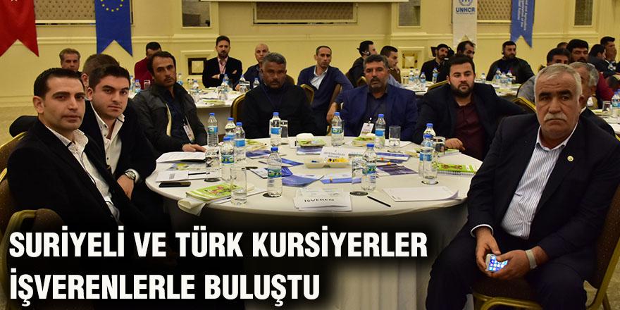 Suriyeli ve Türk kursiyerler işverenlerle buluştu