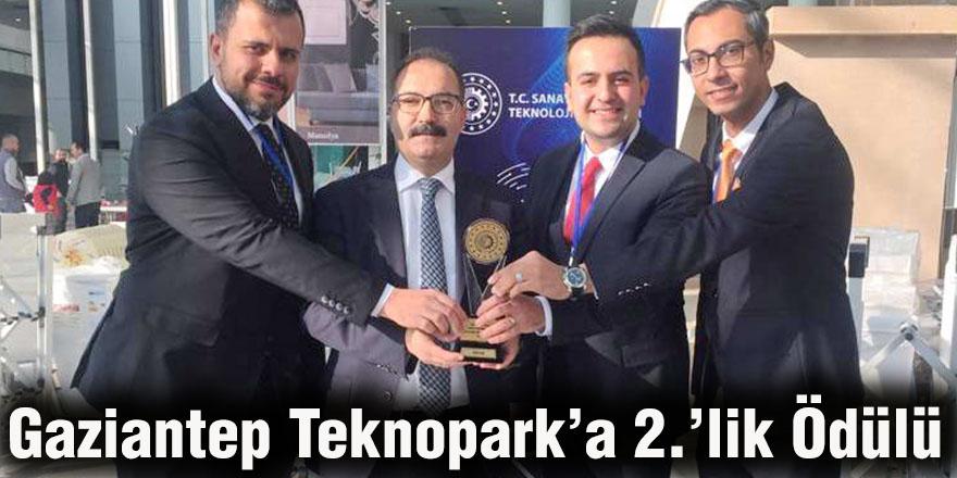 Gaziantep Teknopark'a 2.'lik Ödülü