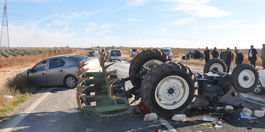 Traktör takla attı: 1 yaralı