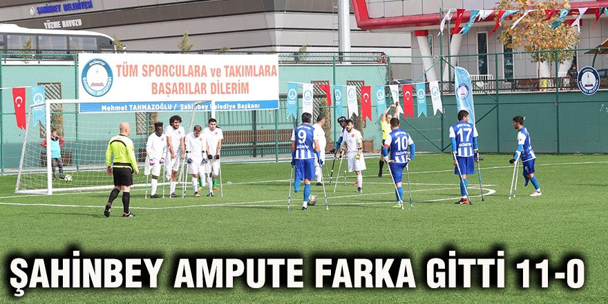 Şahinbey Ampute farka gitti 11-0
