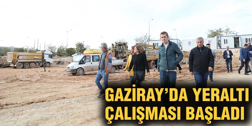 Gaziray'da yeraltı çalışması başladı