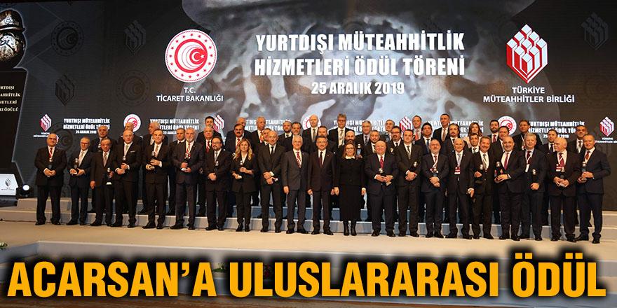 Acarsan'a uluslararası ödül