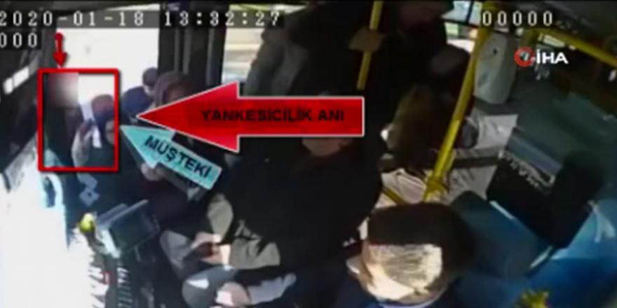Otobüste telefon hırsızlığı
