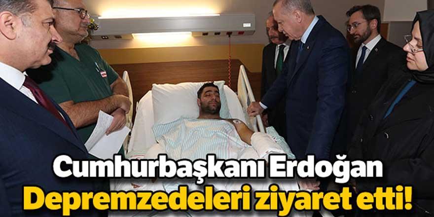Erdoğan'dan hastanedeki depremzedelere ziyaret
