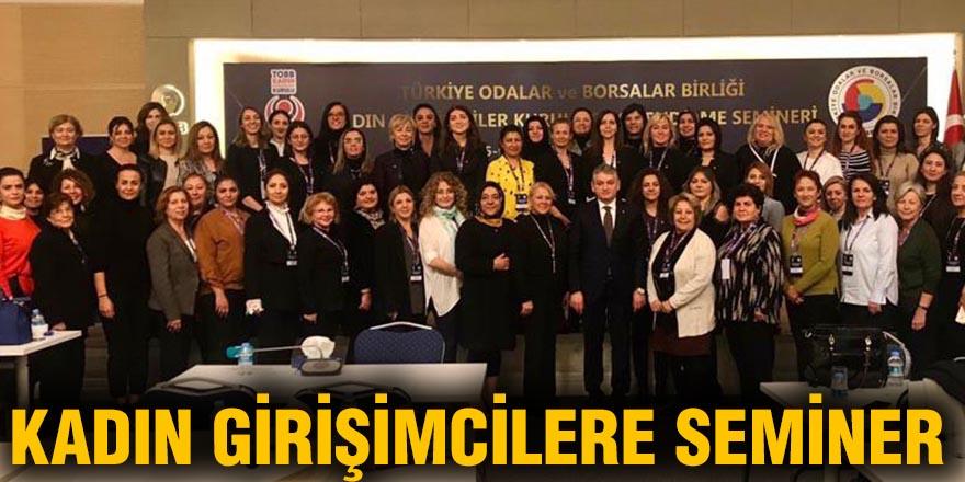 Kadın girişimcilere seminer