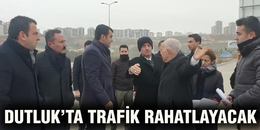 Dutluk'ta trafik rahatlayacak