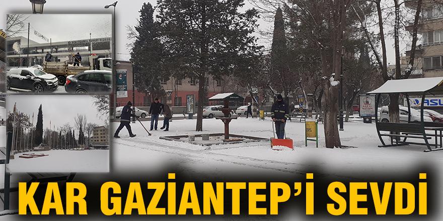 KAR GAZİANTEP'İ SEVDİ