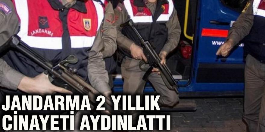 Jandarma 2 yıllık cinayeti aydınlattı