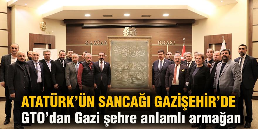 Atatürk'ün sancağı Gazişehir'de