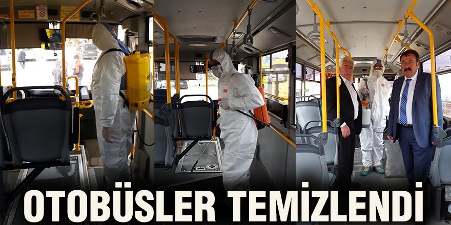 Otobüsler temizlendi