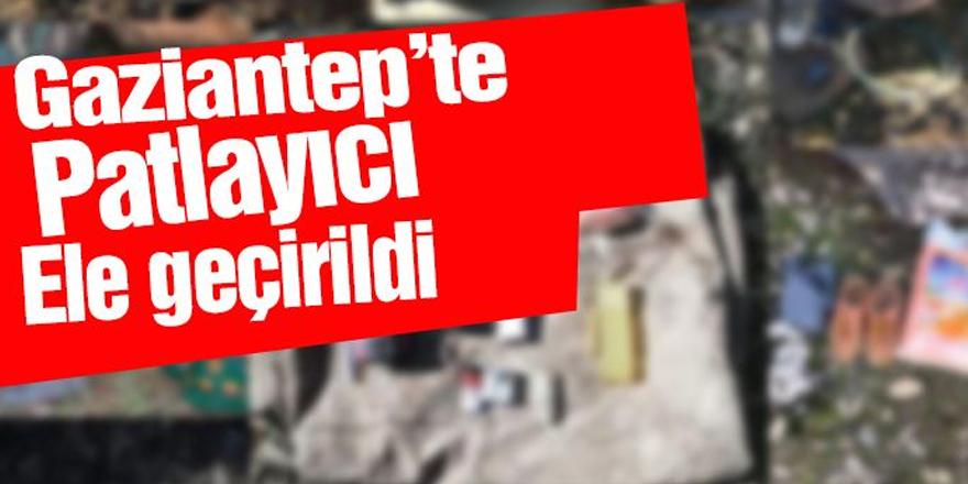 Gaziantep'te patlayıcı ele geçirildi