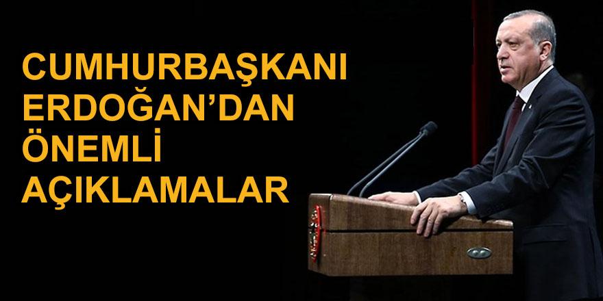 Erdoğan'dan corona virüs tedbirleri kapsamında önemli açıklamalar