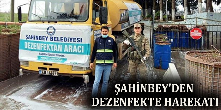 Şahinbey'den dezenfekte harekatı