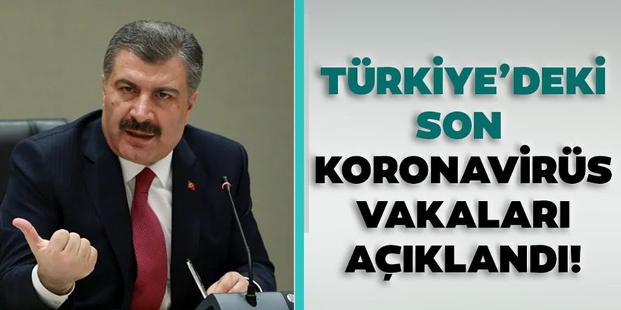 Sağlık Bakanlığı Türkiye'deki coronavirüs vaka sayısını açıkladı