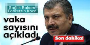 Sağlık Bakanı Koca Türkiye'deki vaka ve vefat sayısın açıkladı