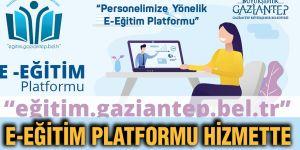 E-Eğitim platformu hizmette