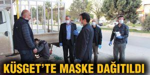 KÜSGET'te maske dağıtıldı