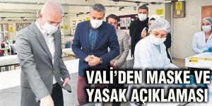 Vali'den maske ve yasak açıklaması