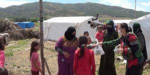 Mevsimlik işçilere çadır ve hijyen desteği
