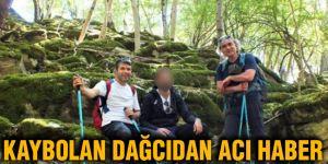Kaybolan dağcıdan acı haber