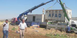Mevsimlik tarım işleri için konteyner kuruldu