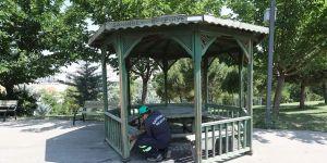 Parklarda dezenfekte